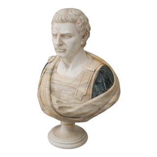 Neo-Classic Marble Roman Senator Bust For Sale