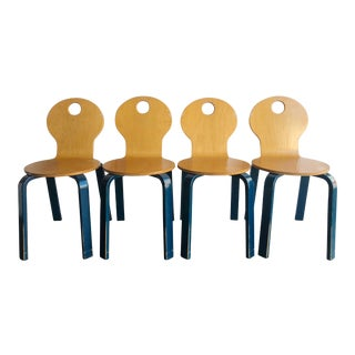 Two Tone Dining Chairs by Thonet- Set of 4 For Sale