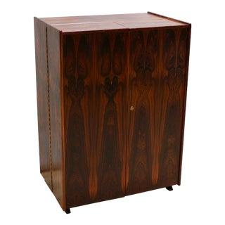 "1960s Danish Modern ""Magic Box"" Rosewood Folding Desk by Mummenthaler and Meier For Sale"