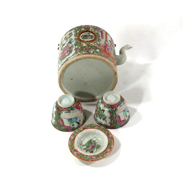 1870s Rose Medallion High Tea Set - Image 8 of 9