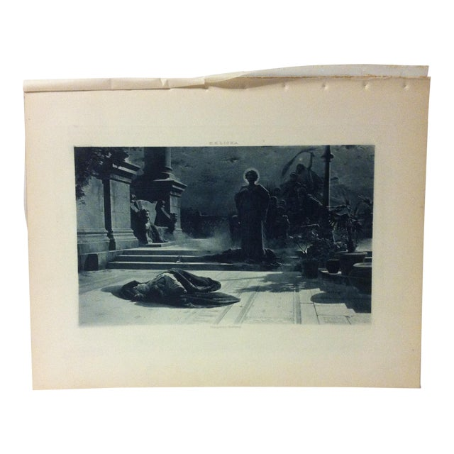 """Antique Photogravure on Paper, """"The Victims of Galerius"""" by e.k. Liska - Circa 1860 For Sale"""