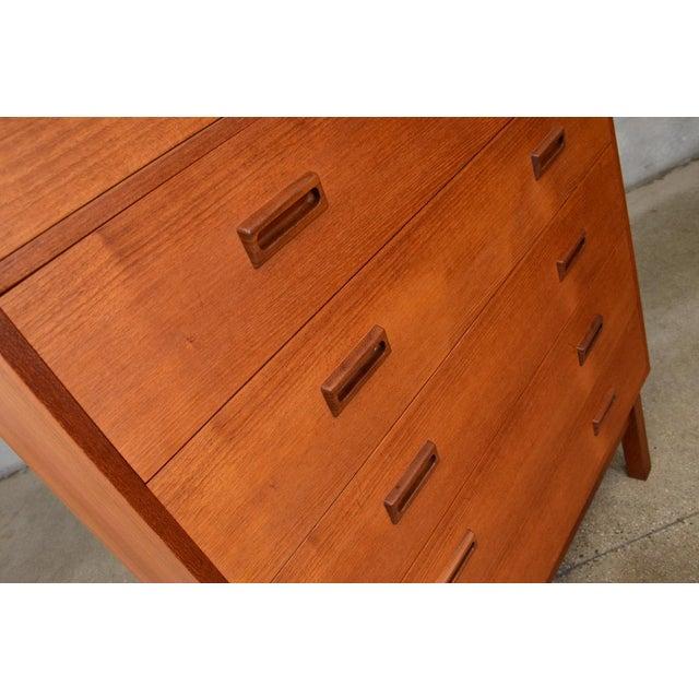 Danish Teak Seven Drawer Highboy Dresser - Image 4 of 7