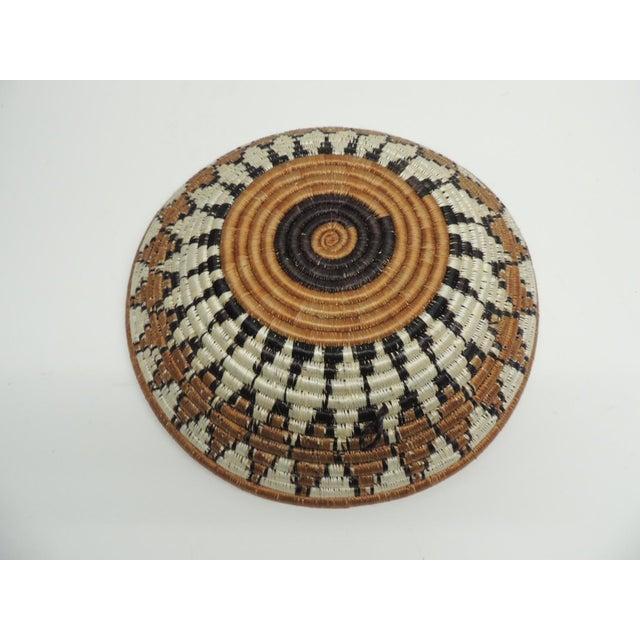 Vintage Round African Basket - Image 4 of 4