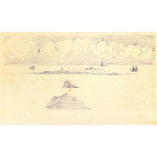 Vintage Ink Drawing - Bay Islands, C. 1910