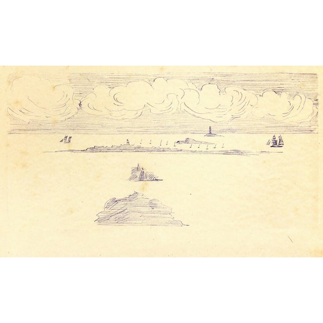 Vintage Ink Drawing - Bay Islands, C. 1910 - Image 1 of 3