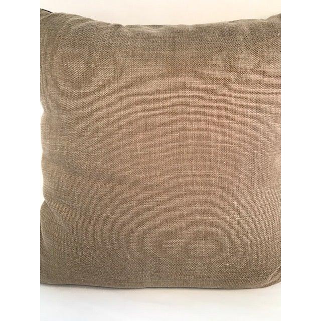 Adam and Viktoria Swedish Natural Linen Tischa Pillow For Sale - Image 4 of 10