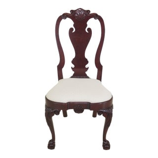 1990s Vintage Kindel Winterthur Collection Ball & Claw Cherry Side Chair For Sale