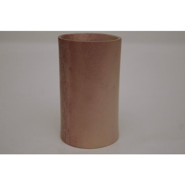 1980s Minimalist Carved Marble Vase / Pencil Cup For Sale - Image 5 of 13