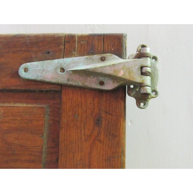 Wood Vintage Oak Walk in Fridge Door Architectural Salvage For Sale - Image 7 of 10