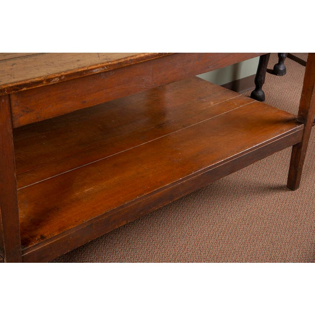 19th Century French Pine Drapers Table With Original Finish For Sale - Image 10 of 13