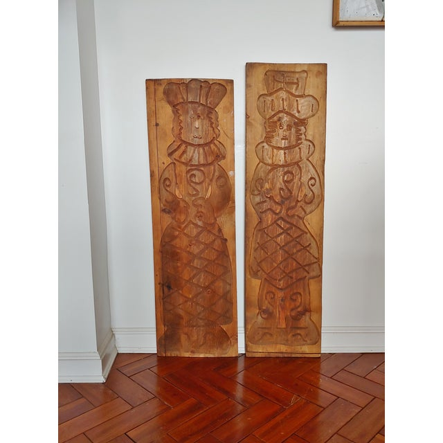 Vintage Scandinavian Royalty Hand Carved Wood Molds - a Pair For Sale In Jacksonville, FL - Image 6 of 10