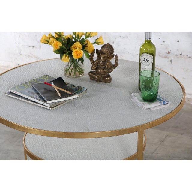 Contemporary Contemporary Erdos + Ko Iron and Marble Rani II Coffee Table For Sale - Image 3 of 7