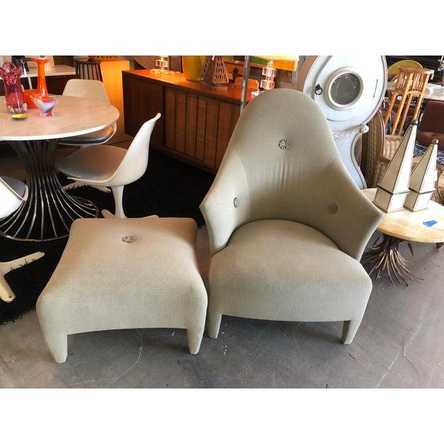 1990s Vintage John Hutton for Donghia Phantom Chair & Ottoman For Sale - Image 11 of 11