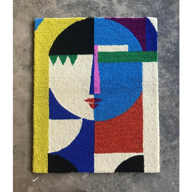 Limited Edition Female Abstract Color Block Rug Wall Hanging Textile For Sale In Atlanta - Image 6 of 6