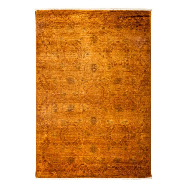 New Marigold Overdyed Hand-Knotted Rug - Image 1 of 3