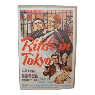 1963 Vintage Rififi in London Movie Poster For Sale