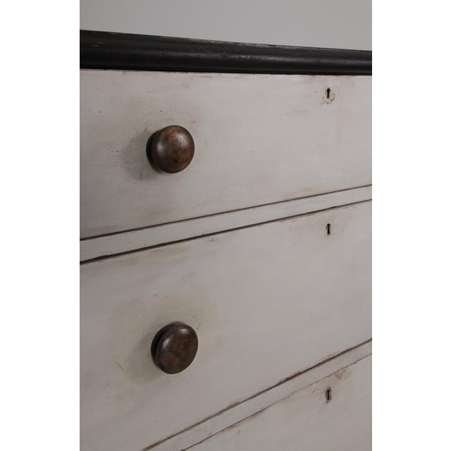 Antique English Country Painted Pine Chest of Drawers For Sale - Image 4 of 8