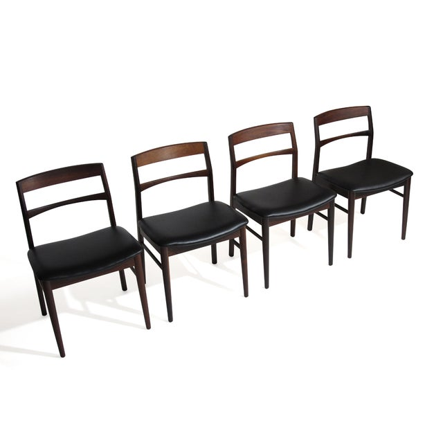 Wood Rare Arne Vodder Solid Rosewood Dining Chairs - Set of 8 For Sale - Image 7 of 13