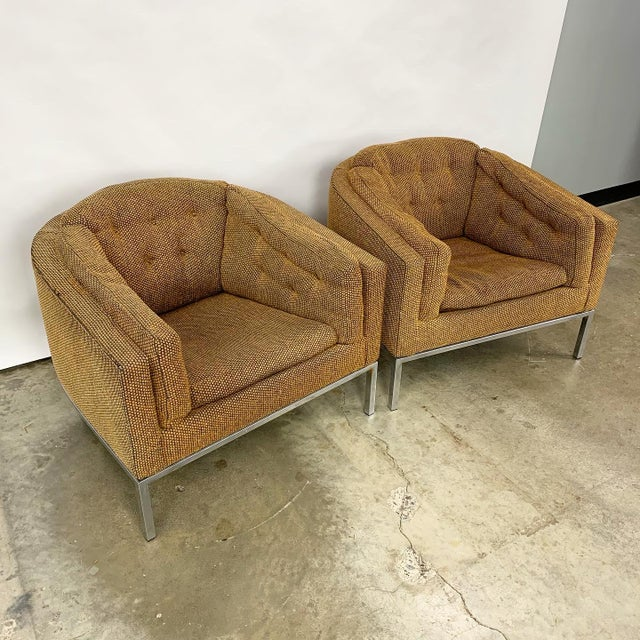 Pair of Modern Club Chairs Designed by Jules Heumann For Sale - Image 11 of 11