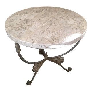 Round Marble Top End or Occasional Table