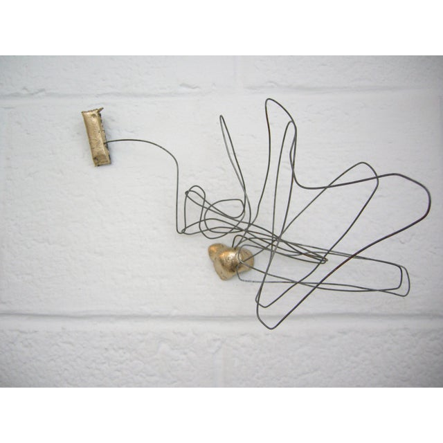 Abstract Wire Drawing No.1 Wall Sculpture by Zuckerhosen For Sale - Image 3 of 3