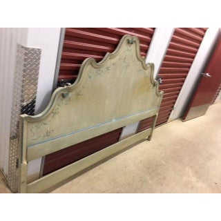 1960s Painted French Provincial King Headboard Preview