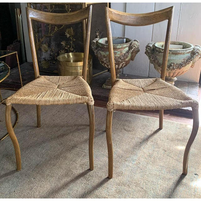 Pair, Mid Century Chairs With Rope Seats For Sale - Image 4 of 12