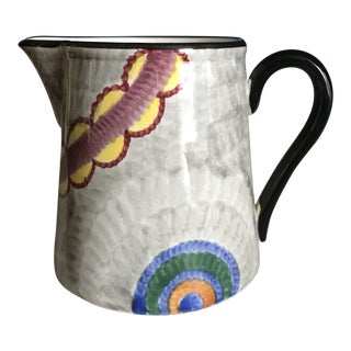 1930s Abstract Art Pottery Pitcher For Sale