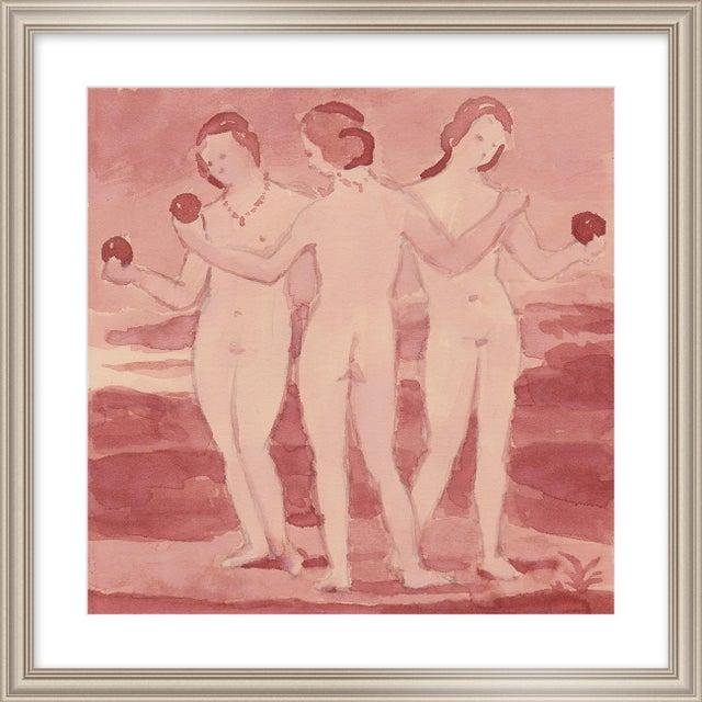 "Contemporary Medium ""Three Graces"" Print by Michelle Farro, 26"" X 26"" For Sale - Image 3 of 3"