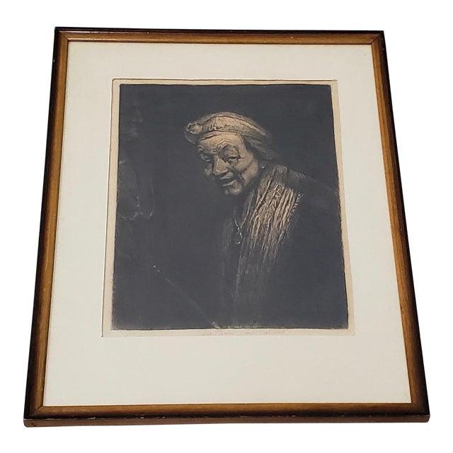 Rembrandt Self Portrait Engraving For Sale