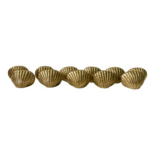 11 Brass Shells Placecard Holders For Sale