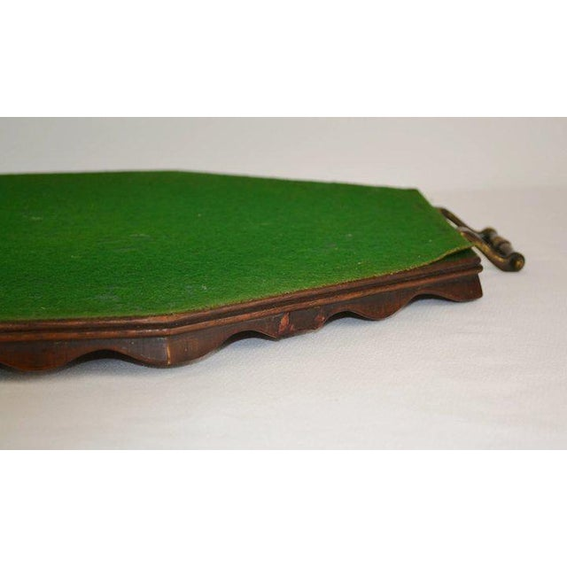 This handsome vintage serving tray features an intricate oyster veneer. Oyster veneering began in Holland in the 17th...
