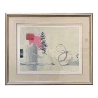 "Late 20th Century ""Soft Surge, 1"" Modernist Lithograph Signed Ellingson, Framed For Sale"