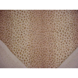Contemporary Ralph Lauren Leopard Print Sand Cotton Upholstery Fabric - 21-1/4y Preview