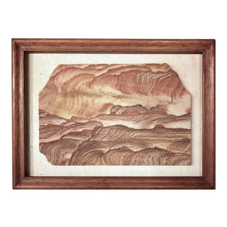"Mounted & Framed Natural ""Landscape Jasper"" Stone Fragment For Sale"