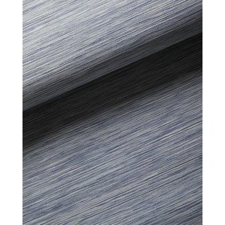 Serena & Lily Swansea Chambray Blue Paperweave Wallpaper For Sale