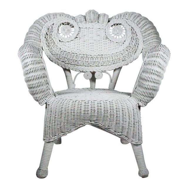 Vintage Child's Wicker Chair - Image 1 of 4