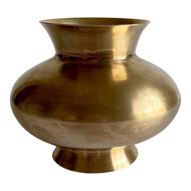 Late 20th Century Vintage Brass Vase For Sale - Image 5 of 5