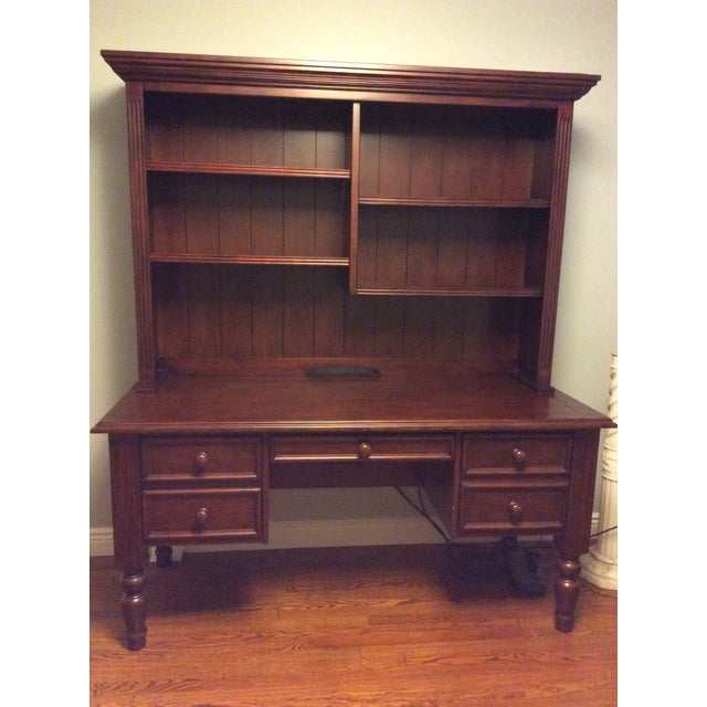 Ballard Designs Wooden Desk With Hutch For Sale In New York - Image 6 of 6