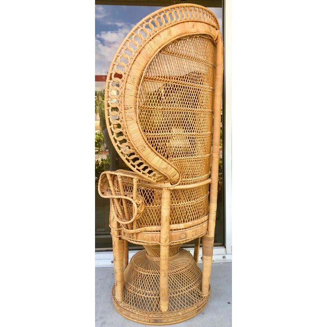 Vintage Rattan Peacock Chair For Sale In Miami - Image 6 of 11