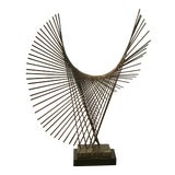 Image of Mid-Century Modern Brutalist Style Metal Sculpture on Stand For Sale