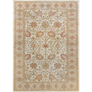 """Mansour Fine Handwoven Agra - 10'3' X 13'10"""" For Sale"""