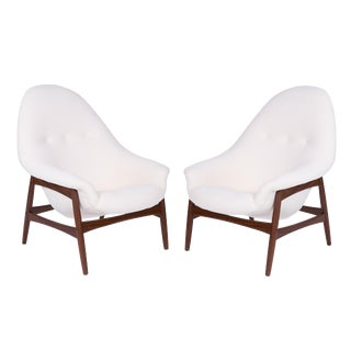 1960s Vintage Hans Olsen for Bramin Sculptural Lounge Chairs- A Pair For Sale