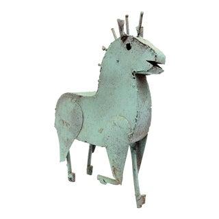 Vintage Metal Brutalist Mexican Barra Horse Sculpture by Manuel Felguerez For Sale