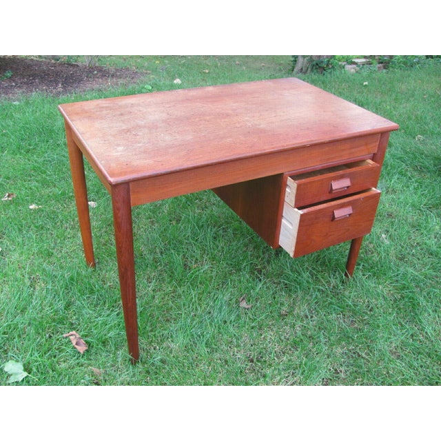 Wood Soborg Mid Century Danish Modern Børge Mogensen Teak Desk For Sale - Image 7 of 8
