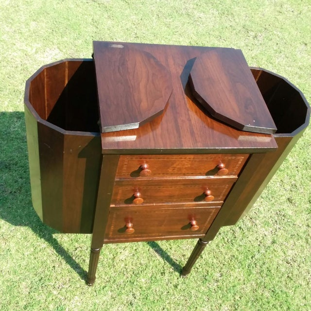 American Classical 1920s Martha Washington Mahogany Sewing Cabinet For Sale - Image 3 of 10