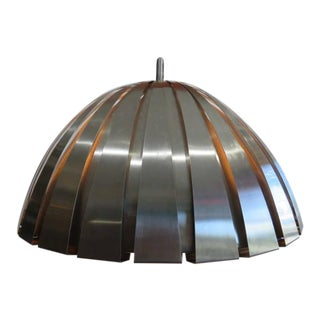 Martinelli Luce Stainless-Steel Calotta Ceiling Lamp Mid Century Modern For Sale