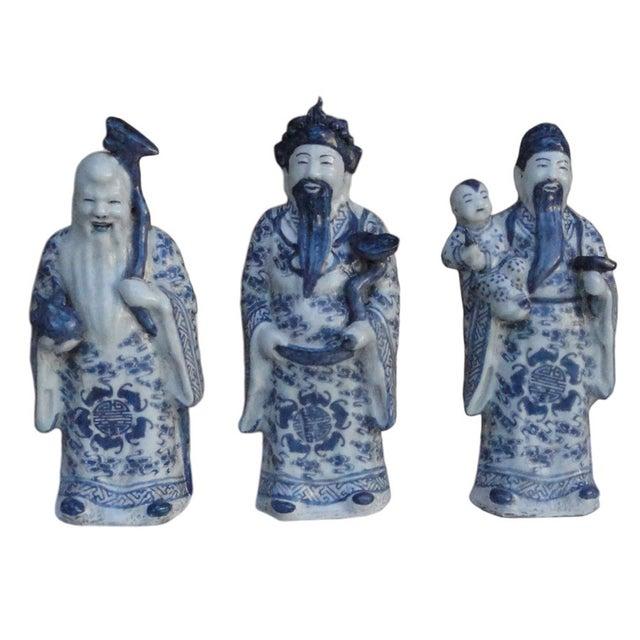 Chinese Handmade Blue & White Porcelain - Set of 3 - Image 1 of 7