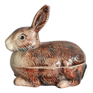 Rabbit Covered Pâté Tureen For Sale