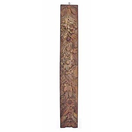 Antique French Carved Floral Wall Plaque - Image 1 of 2